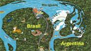 Mapa Cataratas del Iguazú